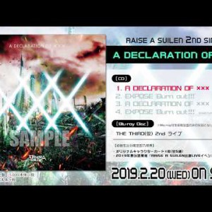 試聴動画 #BanGDream! #RAISEASUILEN / A DECLARATION OF ××× / 2nd Single / 2019-220 Rel